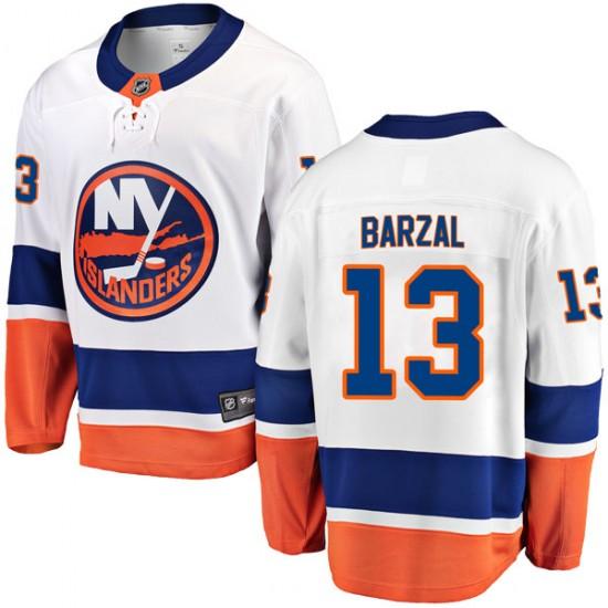 Fanatics Branded Mathew Barzal New York Islanders Youth Breakaway Away  Jersey - White 67ec7548a
