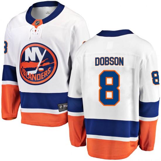 Fanatics Branded Noah Dobson New York Islanders Youth Breakaway Away Jersey - White