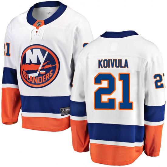 Fanatics Branded Otto Koivula New York Islanders Youth ized Breakaway Away Jersey - White