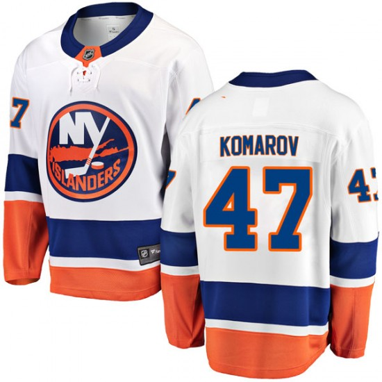 Fanatics Branded Leo Komarov New York Islanders Youth Breakaway Away Jersey - White