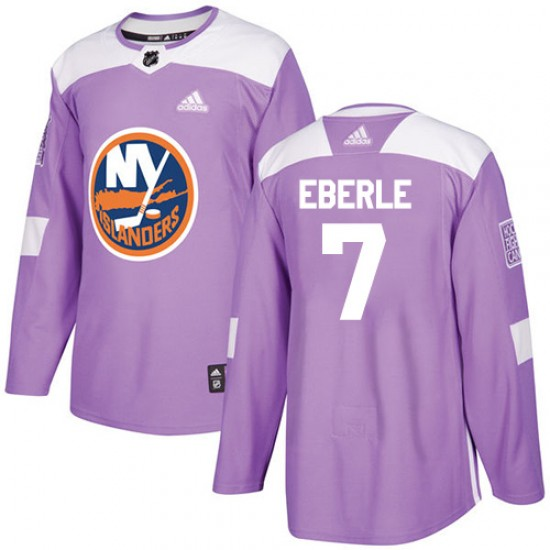 new style 0df4d 451cf Adidas Jordan Eberle New York Islanders Youth Authentic Fights Cancer  Practice Jersey - Purple